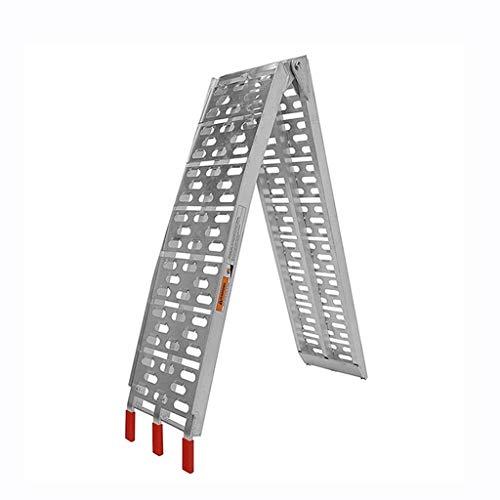 BBGS Rampa de Motocicleta Escalera de Embarque de Aluminio Rampa Plegable Escalera de Transporte de Remolque Escalera de Escalada para Moto, Bicicleta Y Rampa de Acceso