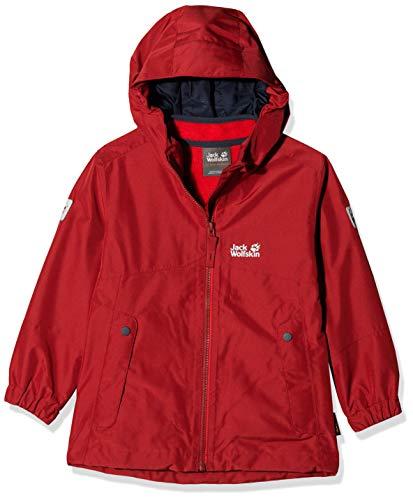 Jack Wolfskin Jungen B ICELAND 3IN1 JKT 3in1-jacke, dark lacquer red, 128