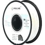 PRILINE 2019 PLA 1.75 3D Printer Filament, Dimensional Accuracy +/-0.03 mm, 1kg Spool,White
