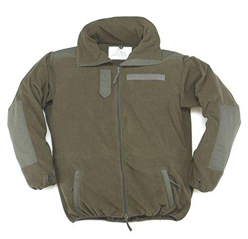 Winddichter Windbreaker Warme Fleece-Jacke ohne Membrane Wandererjacke Oliv Übergrößen S-5XL (M)