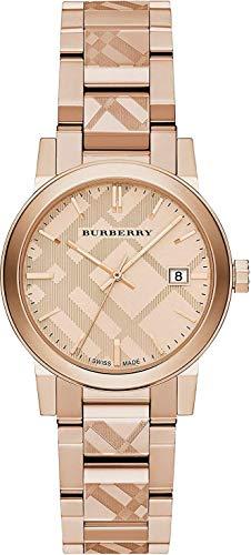 The City BU9146 Damen-Armbanduhr mit Schweizer Gravur, Zifferblatt mit Datumsanzeige, 34 mm