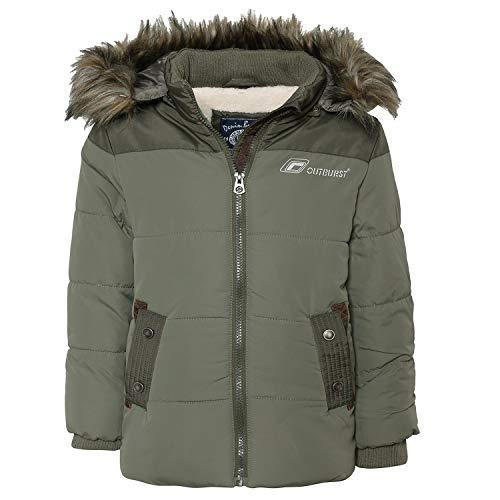 Outburst - Jungen Jacke Anorak Winterjacke Kapuzenjacke mit Fellimitat, grün - 3946606, Größe 110