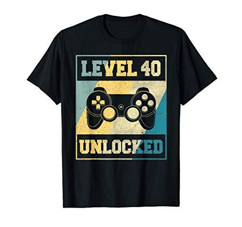 40. Geburtstag 40 Jahre Level 40 Mann Frau 1980 Geschenk T-Shirt