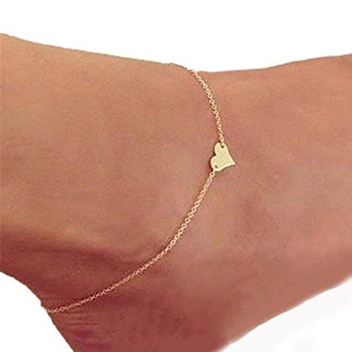 robiear Girl Fashion corazón pulsera tobillo cadena playa pie Sandalia joyería