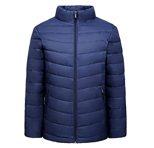 DAFREW Herren Daunenjacke, Winter warme Jacke, leichte Stand-up Fashion Jacke (Farbe : Blau, größe : S)