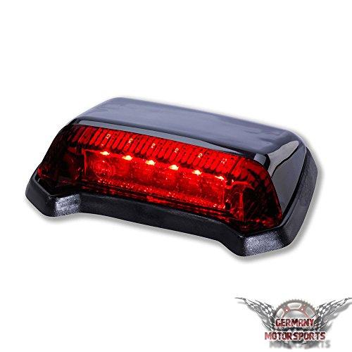 LED Motorrad Rücklicht Fender Schwarz Rotes Glas Universal E-geprüft Germany Motorsports