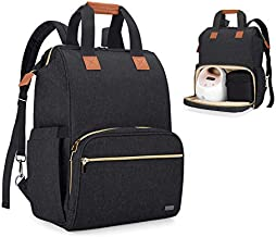 Teamoy Breast Pump Bag Compatible with Spectra S1,S2, Medela and Cooler Bag, Convertible Breast Pump Tote and Backpack with Laptop Sleeve for Working Moms, Black