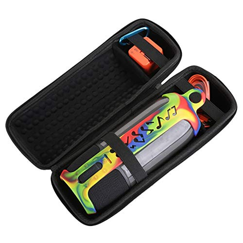 Cikuso 2 In 1 Harte Eva Tragen Rei?Verschluss Aufbewahrungs Box Tasche + Weiche Silikon Hülle Für Pulse 3 Lautsprecher Für Pulse 3 (Schwarz Und Tarnung)