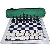 ZHJ International Chess Resin Chess Pieces Pieds Bolso Checkerboard Set Principiante Juguetes educativos Juguetes Desarrollo Intelectual Ajedrez