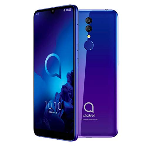 Alcatel 3 - Smartphone (RAM de 3 GB, Camara 13 MP, bateria 3500 mAh, Android), Color Azul