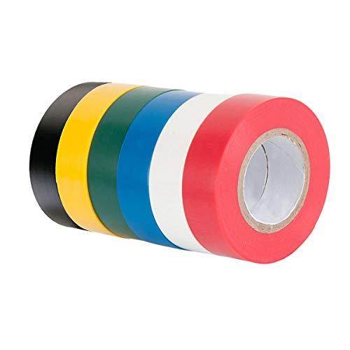 Isolierband für Elektro-Isolierband, 6 Stück, 16 mm × 15 m