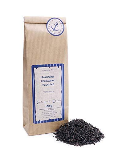 Schwarzer Tee lose Russischer Karawanen Rauchtee (Blend RauchteeKeemun) Schwarzer Tee Schwarztee 250g