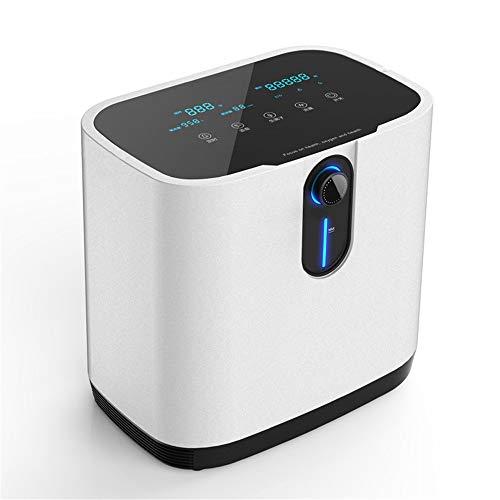 Concentrador de oxígeno, TOPQSC 1-7L / min Máquina de oxígeno portátil ajustable para uso doméstico y de viaje