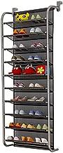TZAMLI 10-Tier shoe rack Over The Door Shoe Organizer Hanging Shoe Storage Shelf Customized Strong Metal Hooks for Closet (black, 10 Tier)