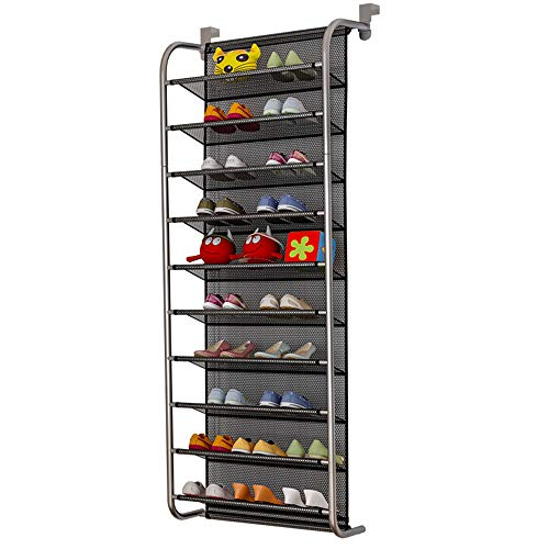 TZAMLI 10-Tier Shoe Rack Over The Door Shoe Organizer...