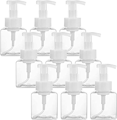Bekith 9 x 250ml Dispensador de botellas de jabón Bote de plastico Recargable dosificador