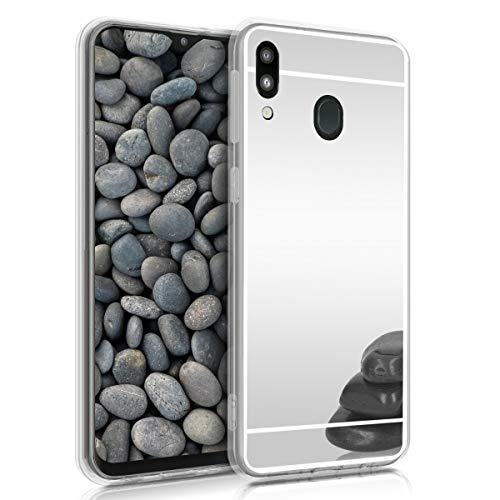 kwmobile Hülle kompatibel mit Samsung Galaxy M20 (2019) - Handyhülle - Handy Hülle in Silber spiegelnd