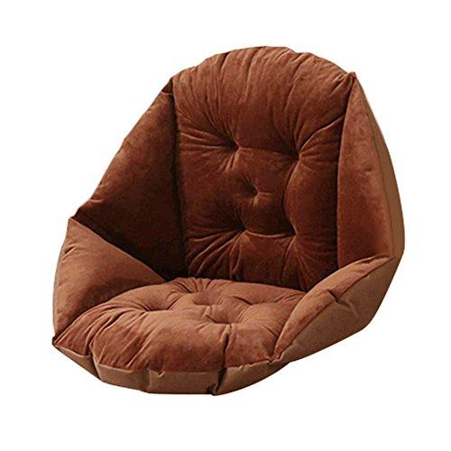 Pueri Chair Cushion Thicker Thermal Seat Cushion Patio Office High Back Chair Cushion Seat Replacement Cushions (B, Coffee)