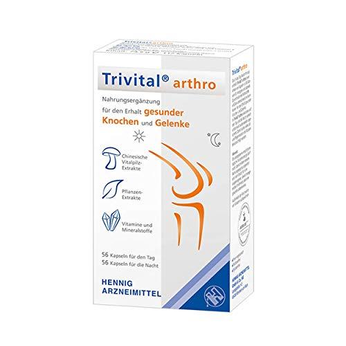 TRIVITAL arthro: Für den Erhalt gesunder Kochen & Gelenke, ovo-vegetarisch, lactosefrei, glutenfrei, 112 Kapseln