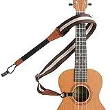 ウクレレストラップ ナイロン生地 幅4cm ウクレレショルダーストラップ Ukelele Straps Shoulder with Double J Hooks Clip On ウクレレデコレーション 楽器を安定に背負う 長さ調節でき 4色選択