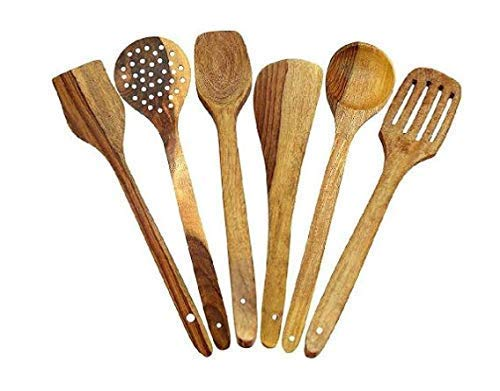 Wooden Handmade Spoons/Serving and Cooking Spoon Kitchen Utensil Set