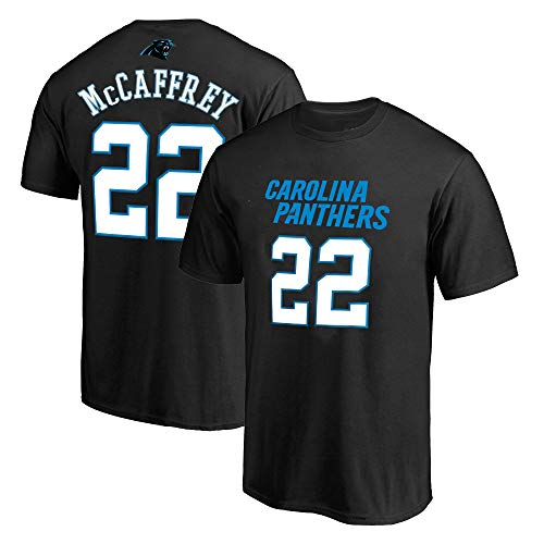 Outerstuff NFL Youth 8-20 Team Color Polyester Performance Mainliner Player Name and Number Jersey T-Shirt (X-Large 18/20, Christian Mccaffrey Carolina Panthers Black)