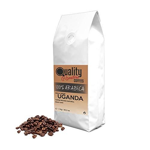 ☕ Café en grano natural. 100% Arabica. Origen único Uganda, 1kg. Tostado artesanal.