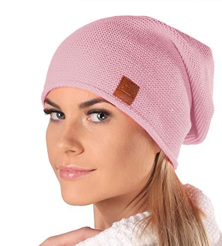 Mikos* Beanie für Damen | Wintermütze für Damen in Rosa | Wintermütze Damen | Long Slouch Beanie | Mütze mit hohem Tragecomfort |699 (Rosa)
