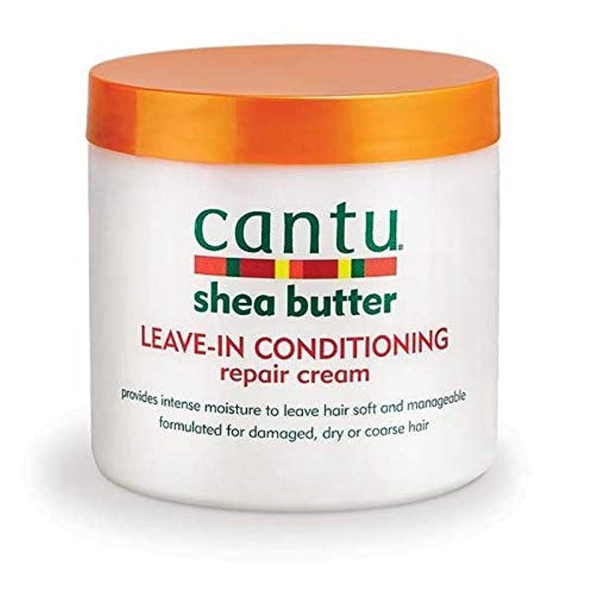 副挽く穴[Cantu ] エアコン修理クリーム453グラムでカントゥシアバター休暇 - Cantu Shea Butter Leave in Conditioning Repair Cream 453g [並行輸入品]