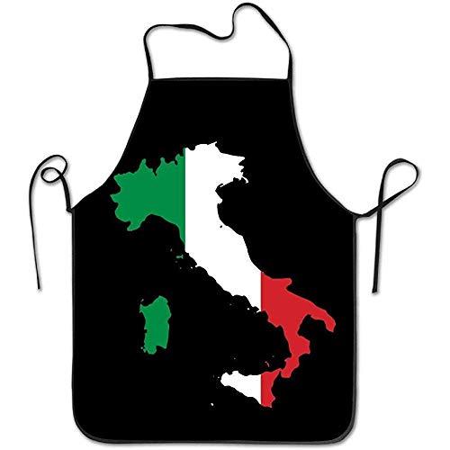 Darlene Ackerman(n) Italien Italien Italienische Karte Lustige Schürze Küche BBQ Barbecue Kochen Grillen Schürze Schwarz