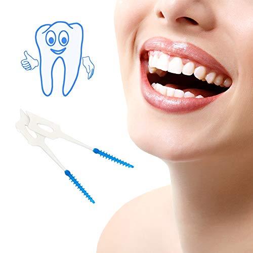 iTimo 40 Teile/Paket Elastischer Zahnstocher, Zahnseide, Zahnfleisch Interdentalbürste