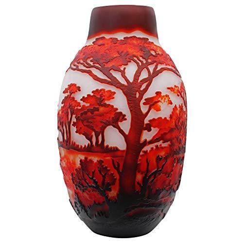 aubaho Vase Replika nach Galle Gallé Elefant Glas Antik-Jugendstil-Stil Kopie c10
