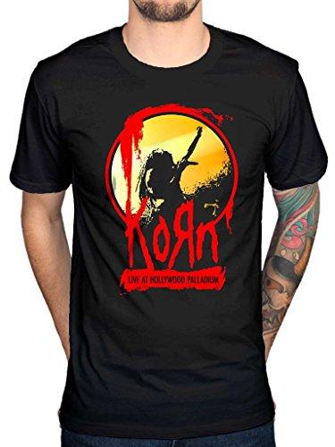 Official Korn Live At Hollywood Palladium T-Shirt Nu Metal Alternative Rock Music Band