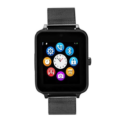 Smartwatch Z60 Pro | Update Bonn | Bluetooth Uhr kompatibel mit Android iOS Windows intelligente Armbanduhr mit SIM & TF Slot 2018 Model Facebook Whatsapp Fitness IOS und Android (Schwarz)