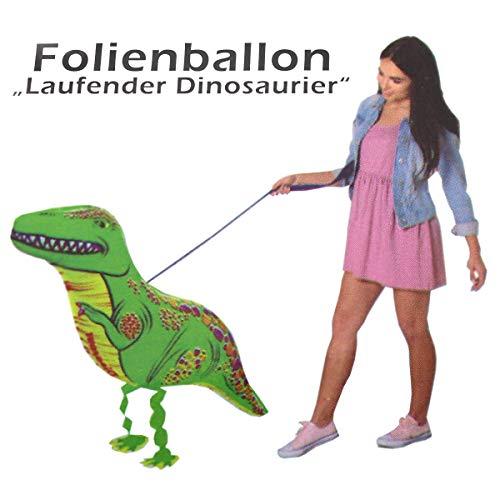 G&M Folienballon Airwalker Laufender Dinosaurier T-Rex Helium Ballon Geburtstag Party Deko