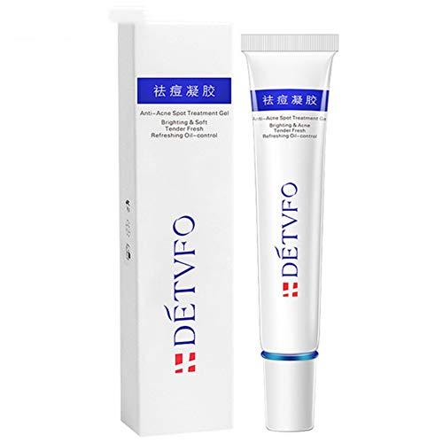 Akne- und Fleckenbehandlung Formulierte Aloe Vera Gel Essenz, Anti-Akne Creme Gesichtsserum zur Entfernung von Flecken Pickelspuren, Hautlinien Beruhigungs- und Reparaturpflege, 20g