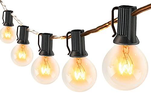 Catena Luminosa Esterno - 10M Luci da Esterno Catene Luminose per Esterni con 30+6, G40 Filo Lampadine Luminarie Lucine da Esterno Decorative per Terrazzo, giardino, balcone, barbecue