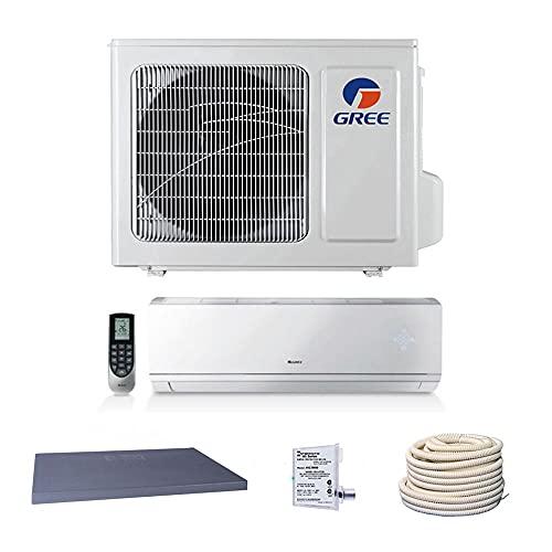 GREE 9,000 BTU 23 SEER Vireo+ Wall Mount Ductless Mini Split Heat Pump 208/230V - Built-in Wi-Fi - Comfort Value Kit
