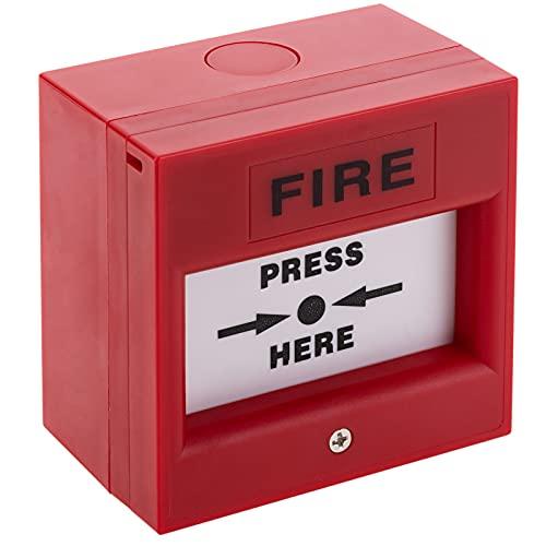 BeMatik - Pulsador Manual de Emergencia para alarmas de Incendios con luz led