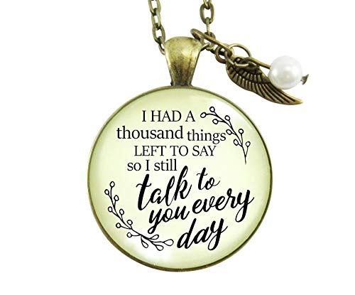 """Gutsy Goodness 24"""" Remembrance Necklace Thousand Things Miss You Memorial Jewelry"""