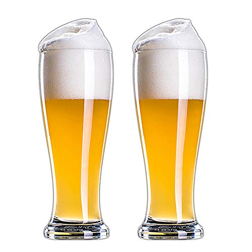 Lead-free Glass Beer Jug, Thickened Creative Beer Jug | Classic Beers, Beer Jugs, Great as a Beer Gift - 2 Pieces