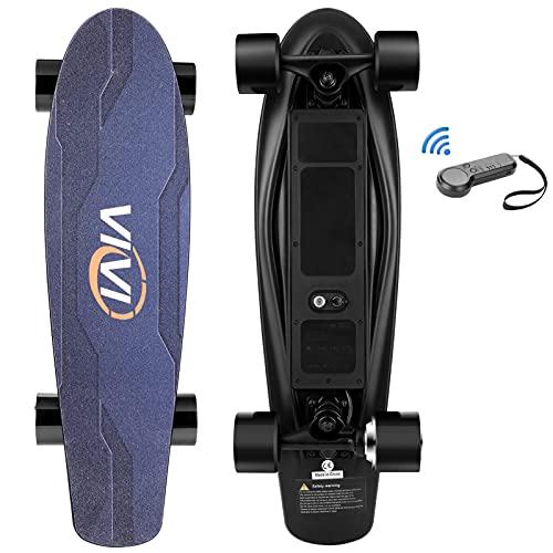 Vivi H2S-2 Elektro Skateboard, Geschenkpaket, Jugend Elektro Longboard mit Fernbedienung für Erwachsene, 20KM/H Höchstgeschwindigkeit, 350 W Einzelmotor, 8 KM Reichweite, maximale Belastung 70KG
