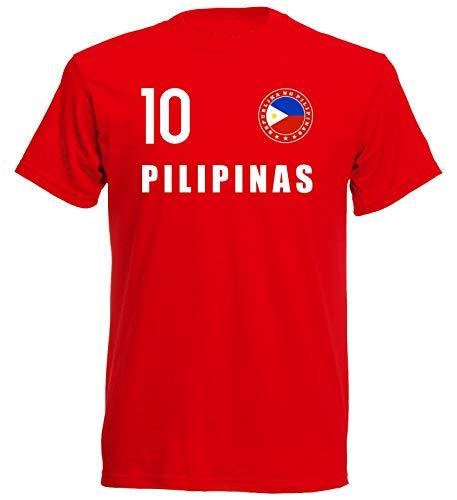 Nation Philippinen T-Shirt Trikot Wappen FH 10 RO (XL)