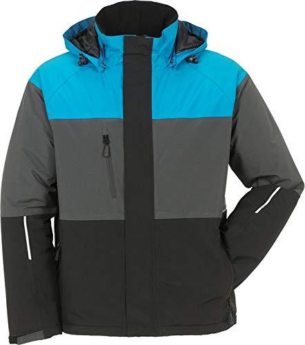 Planam Outdoor Winter Jacke Aviator in Verschiedenen Farben (L, blau-grau-schwarz)