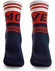 NORTEI Calcetines para Ciclismo, MTB y Running de Caña Alta para Hombre y Mujer – Move Red