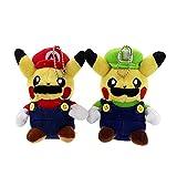 13cm Super Mario Bros Pikachu Plush Toy Cute Pikachu Stuffed Soft Dolls Kids Birthday Plush Toys
