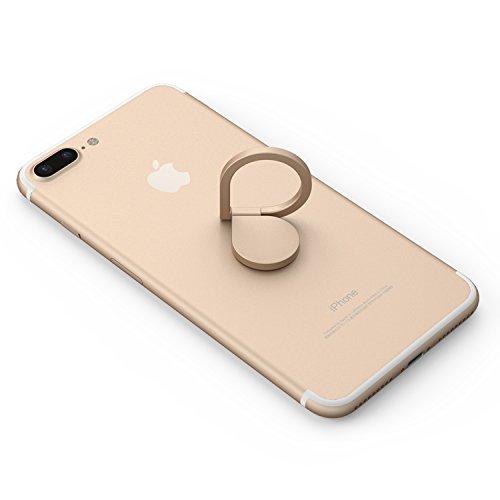Kronya - Soporte de Dedo Giratorio para teléfono Inteligente de 360 Grados - Compatible con Apple iPhone Samsung Galaxy - Modelo MTKAB (Oro)