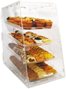 Winco ADC-4 4-Tier Pastry Display Clear Acrylic Award Case Recommendation Medium