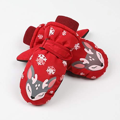 Handschoenen De nieuwe baby jongens en meisjes kinderen ski winter koude wind en waterdichte outdoor anti-slip drie warme kleuren: blauw, Maat: