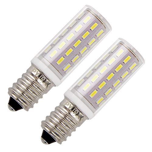 Dunstabzugshaube E14 LED Lampen, 5W LED Birne Ersatz für 45W Halogenlampen, Kaltweiß 6000K, AC100V-240V, für Dunstabzugshaube, Kühlschrank, Nähmaschine. (2er Pack)